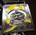 Alaska Zombie Half Marathon Medal 2010