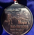 Mayor's Half Marathon Medal 2012