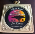 White River Half Marathon Medal 2011