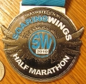Soaring Wings Half Marathon Medal 2010