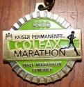 Kaiser Permanente Half Marathon Medal 2010