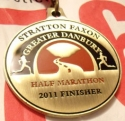 Greater Danbury Half Marathon Medal 2011