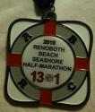 Rehoboth Beach Seashore Half Marathon Medal 2010
