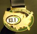13.1 Miami Half Marathon Medal 2011