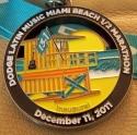 Latin Music Miami Beach Half Marathon Medal 2011