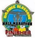 Orange Blossom Half Marathon Medal 2011