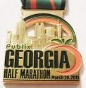Georgia Half Marathon Medal 2011
