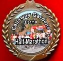 Callaway Gardens Half Marathon Medal 2010