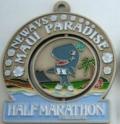 Maui Paradise Half Marathon Medal 2009