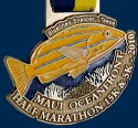 Maui Oceanfront Half Marathon Medal 2010