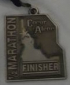 Coeur D'Alene Half Marathon Medal 2010