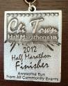 Chi Town Half Marathon Medal 2012