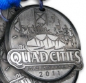 Quad Cities Half Marathon Medal 2011