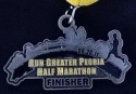 Run Greater Peoria Half Marathon Medal 2011