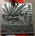 Schaumburg Turkey Trot Half Marathon Medal 2011