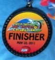 Splish Splash Half Marathon Medal 2011
