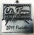 Chi Town Half Marathon Medal 2011