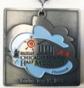 Chicago Spring Half Marathon Medal 2011
