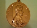 Lincoln Memorial Half Marathon Medal 2010