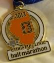 Illinois Half Marathon Medal 2012