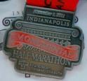 Indianapolis Monumental Half Marathon Medal 2011