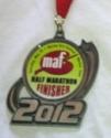 Marion Arts Festival Half Marathon Medal 2012