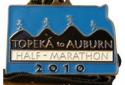 Topeka to Auburn Half Marathon Medal 2010