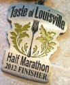Taste of Louisville Half Marathon Medal 2012