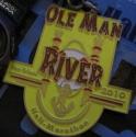 Ole Man River Half Marathon Medal 2010