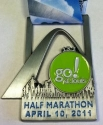 Go St. Louis Half Marathon Medal 2011