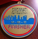 Cincinnati Half Marathon Medal 2011