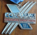 Cox Providence Half Marathon Medal 2011