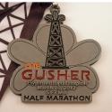 Gusher Half Marathon Medal 2012