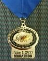Casper Half  Marathon Medal 2011