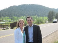 Kristin and Scott in Evergreen