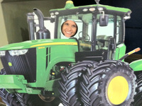 Kristin...be the tractor...