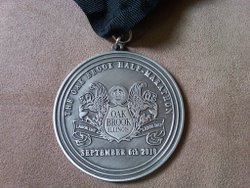 Oak Brook 2010 half medal