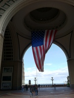 American Flag in Seaport