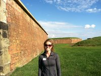 The walls at Fort McHenry