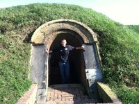 Mike in a bunker at Ft. McHenry