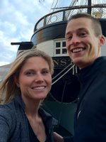 Mike and Kristin at the USS Constellation
