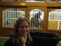 Kristin with the Clydesdales