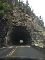 Awesome Tunnel out of Going to the Sun