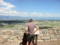 Great views of downtown Kalispell from the top