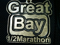Great Bay Half Marathon Medal