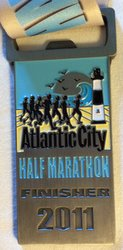 Atlantic City Half Marathon Medal