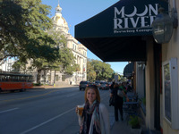 Kristin outside Moon River