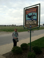 Kristin at the Military Aviation Museum