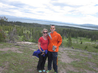 Overlooking Lake Yellowstone