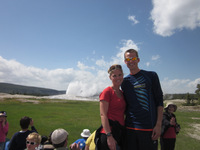 Team Kiss at Old Faithful